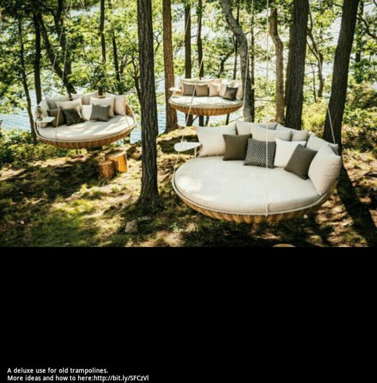 Trampoline chair. Cool.