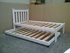 Solid pine single bed with trundle $349 plus postage