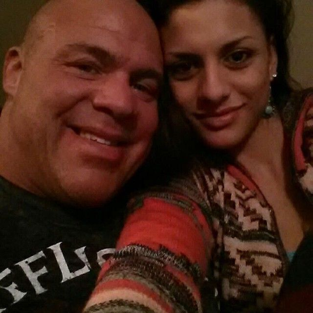 Former WWE Superstar Kurt Angle and his wife Giovanna