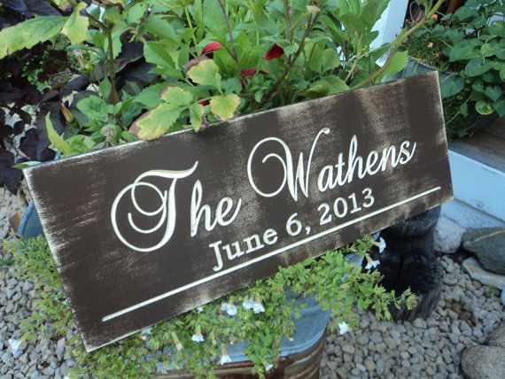 Personalized Family Name Established Sign Plaque Last Name Sign Wall Sign  Carved Engraved Perfect For A Wedding Gift
