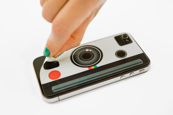 The instant camera iPhone decal = instant pizazz for your iDevice. #ilovephotojojo