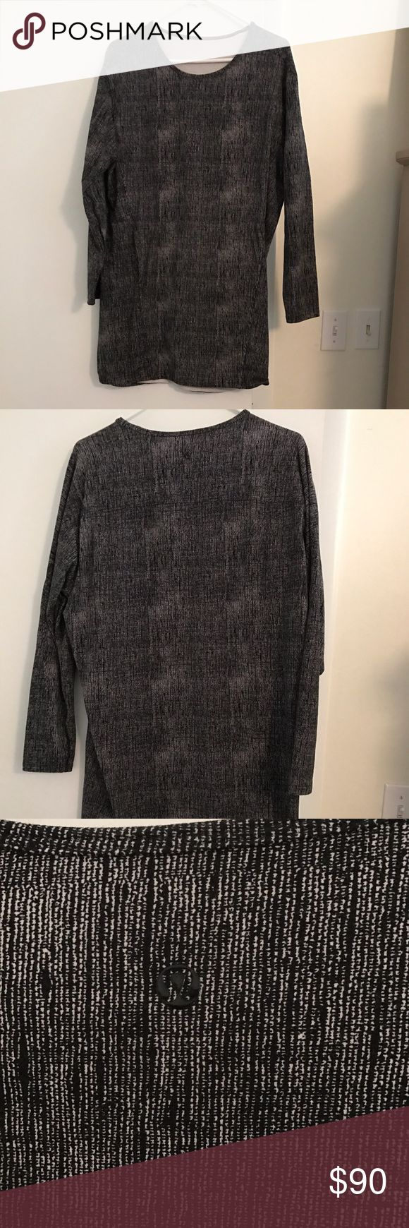 Lululemon dress Long sleeve Lululemon dress. Two pockets in front. Has been worn but in good condition lululemon athletica Dresses Long Sleeve