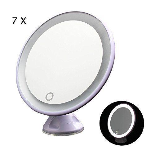 Best Photo Gallery Websites TFCFL Touch Screen Rotating LED Makeup Mirror x Magnifying Lighted Cosmetic Vanity Mirror with