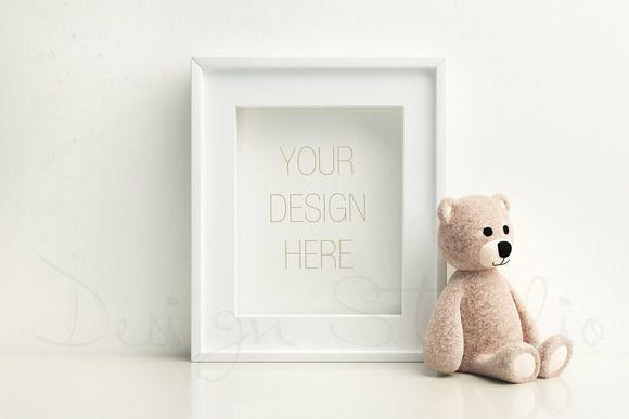 Nursery frame mock up,styled photo by HisariDS Mockup Design on @creativemarket