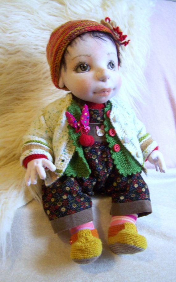 CRISTA 20Soft Sculptured Cloth Doll  Waldorf by MaryUniqueDoll