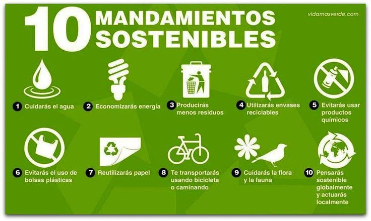medio ambiente destacados   Los 10 mandamientos verdes #infografía #eco