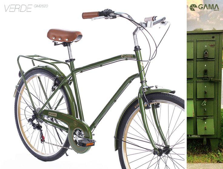 City Commuter - Verde en gamabikes.com mezcla la naturaleza con lo urbano. #bici #bicicleta #urbano #vintage