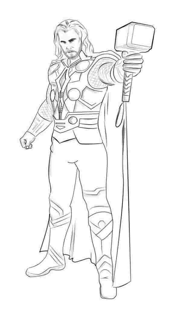 Thor Coloring Pages In 2020 Superhero Coloring Pages Avengers Coloring Pages Avengers Coloring
