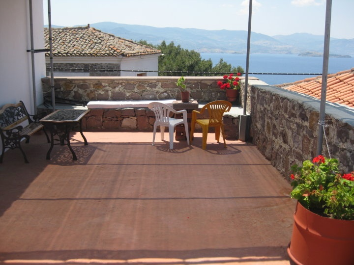 Terrace on the top floor Machi's Guest House Molyvos Lesvos