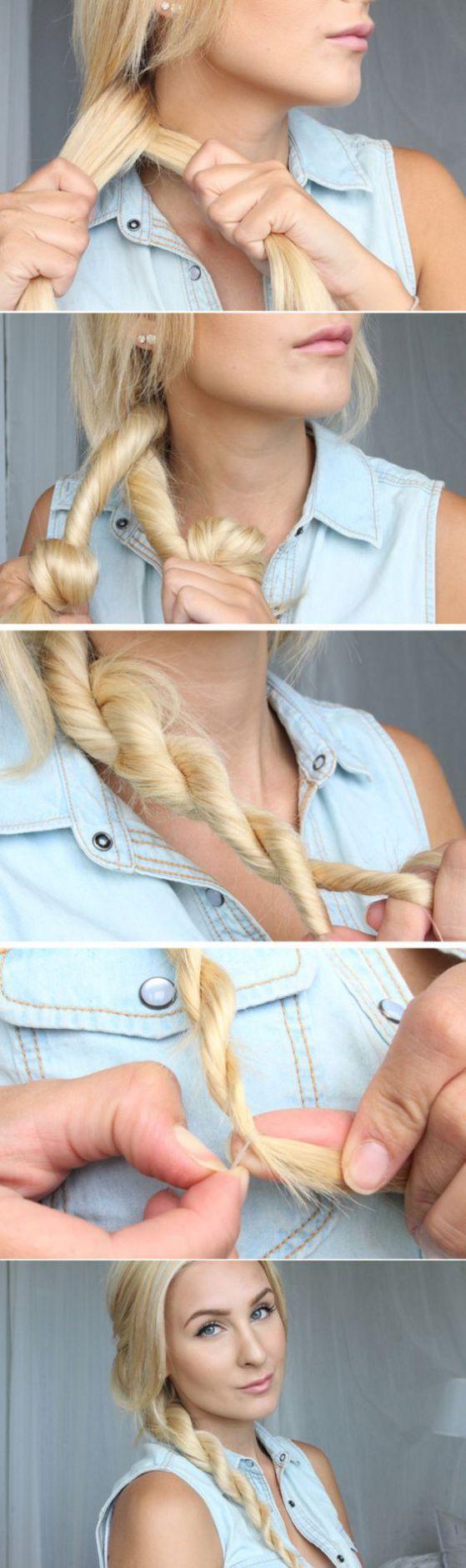 Nice and easy braid hairstyle - Sencillo trenzado para el cabello largo.                                                                                                                                                                                 Más