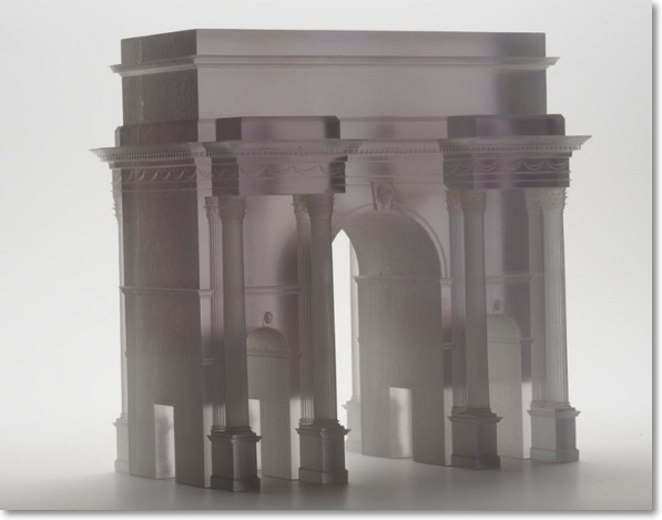 3D Printed Arch – Created on an Objet 3D Printer in Clear Transparent Material