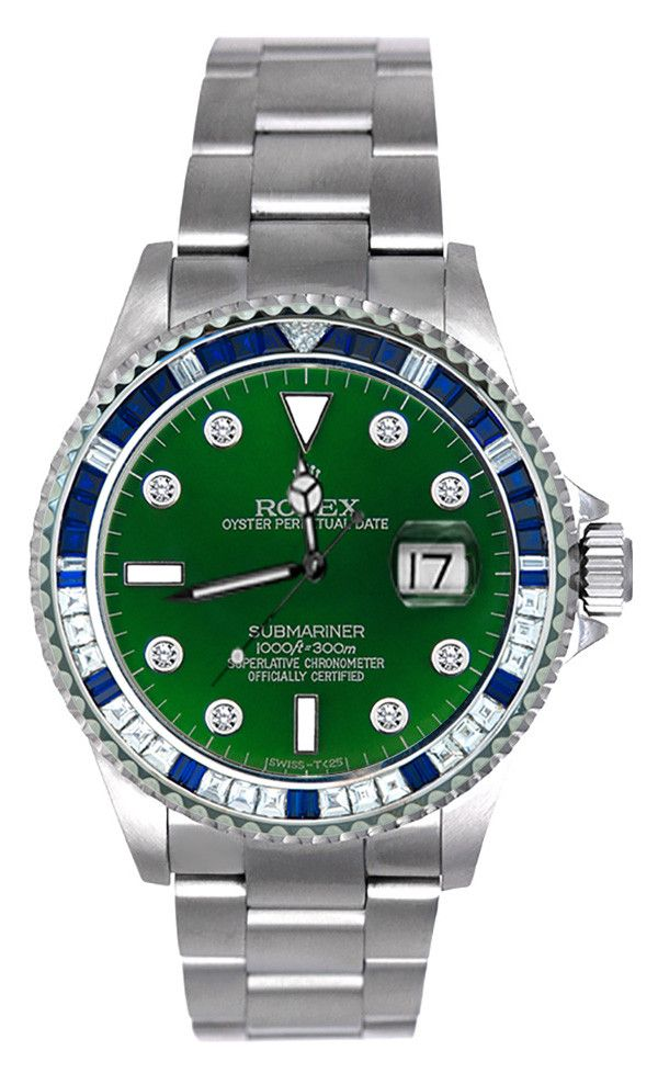 Rolex Submariner Steel, with elegant green face, is an archetypal divers' watch that connects and epitomizes the luxury of Rolex with the adventure and thrill of underwater world. Rolex Submariner ste