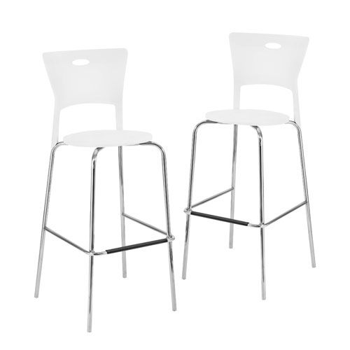 lumisource mimi white bar stools set of two 36 inch - 36 Inch Bar Stools