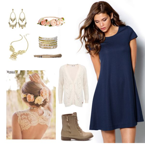 BOHO #dress #blue #fashion #trendy #boho #style #chic #saty #moda #modra #original