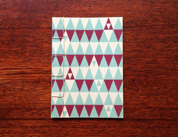 Japanese Bound A6 Notebook 'Stark' geometric by TellThemStories
