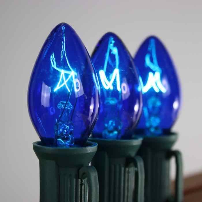 C7 Blue Extra Bright 7w Christmas Light Bulbs Christmas Light Bulbs Blue Christmas Lights Christmas Lights