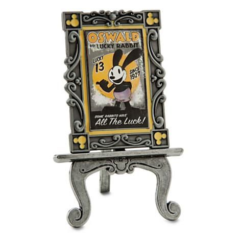 Oswald the Rabbit brings all the luck to your collection in 2013 with this limited edition poster pin on a decorative easel stand.