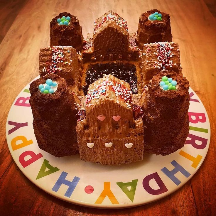 burg kinder geburtstag kuchen schokolade