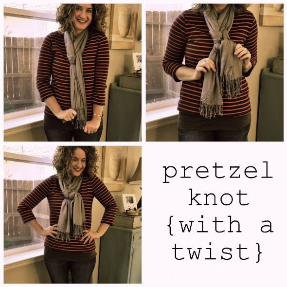 If you have a scarf that's on the longer side, try this knot: It's so easy but looks terrific. Click through for the steps.