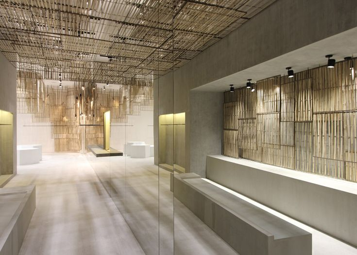 Isabel Marant's Bangkok store. Location: Bangkok, Thailand; firm: Parisian studio Ciguë; description: The intricate bamboo screens were handmade by local Thai craftsmen, and woven in three different patterns and densities.