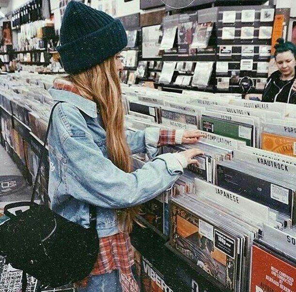 grunge, hipster, indie, inspiration, music, style, vinyl