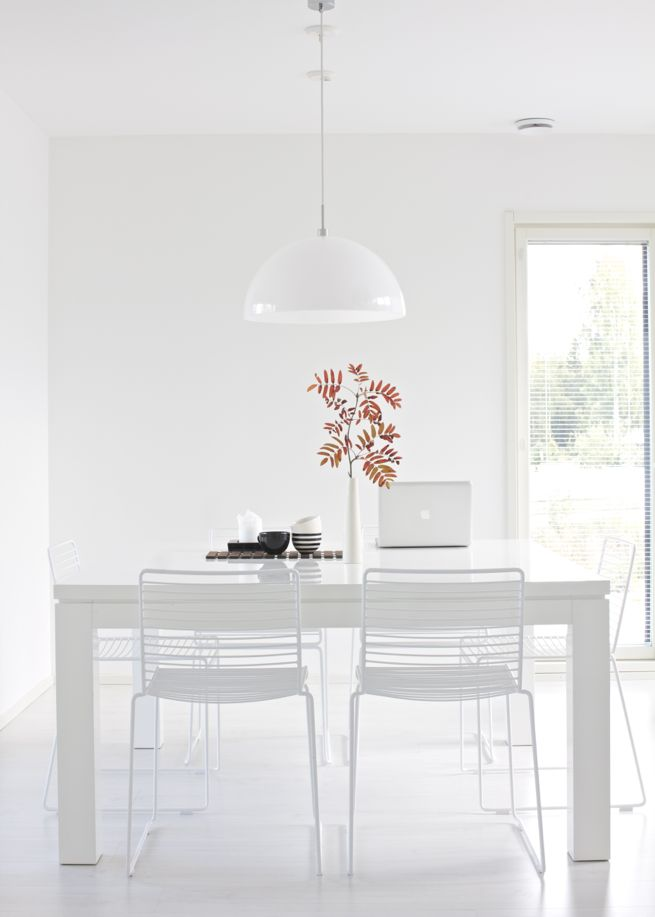 lisbet e. | Hay Hee dining chair, Valanti Ruutu dining table, Frandsen Half Moon pendant light, Amfora ceramics