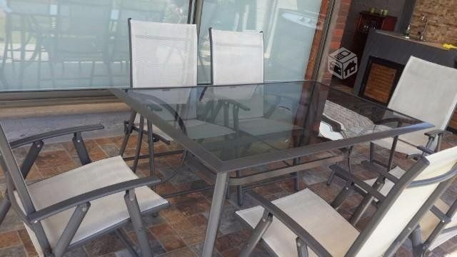 Mesa comedor vidrio + asientos, Región Metropolitana | yapo.cl
