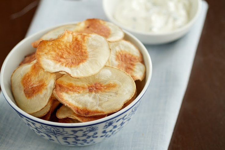 Homemade baked potato chips: Baked Potatoes, Yummy Food, Snacks, Appetizers, Favorite Recipes