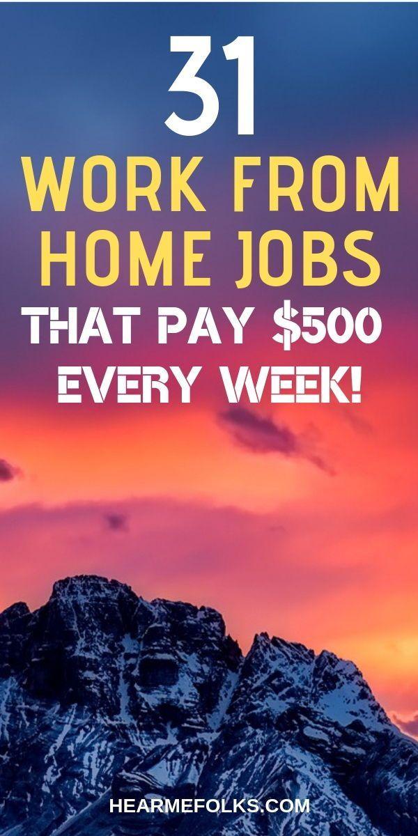 Arbeiten Sie von zu Hause aus Jobs, die Sie wöchentlich bezahlen. Wöchentlich mit diesen einfach zu erledigenden
