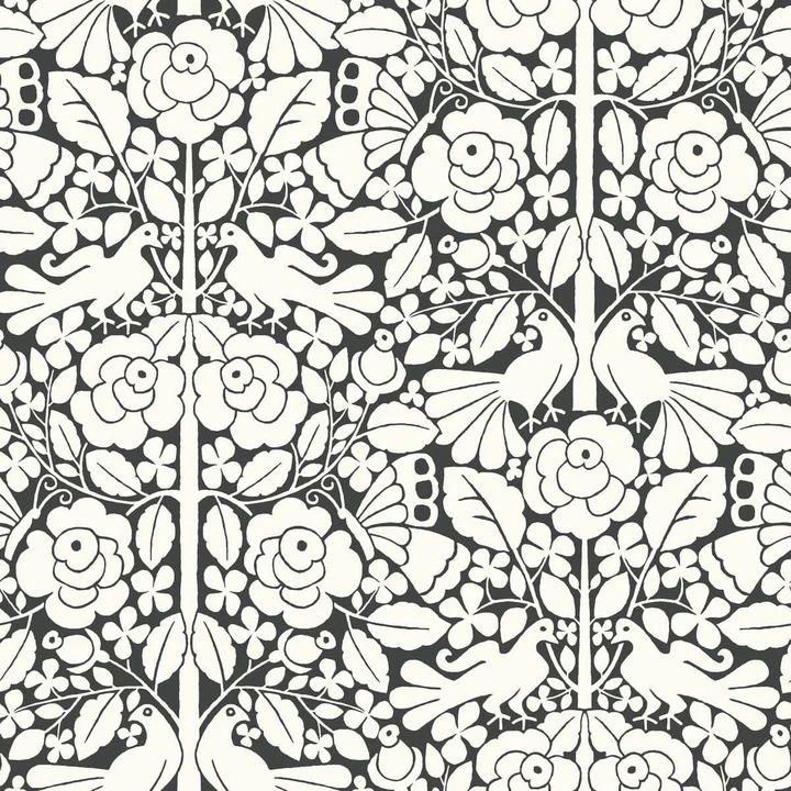 Magnolia Home Fairy Tales Wallpaper Black & White in