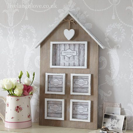 House Shaped Multi Frame Shabby Chic Photo Frames Multi Picture