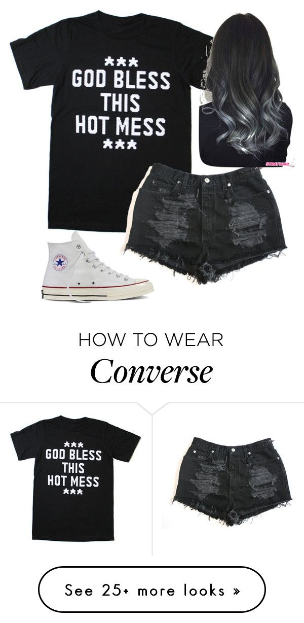 """""""Untitled #1695"""" by tokyoghoul1 on Polyvore featuring Converse"""