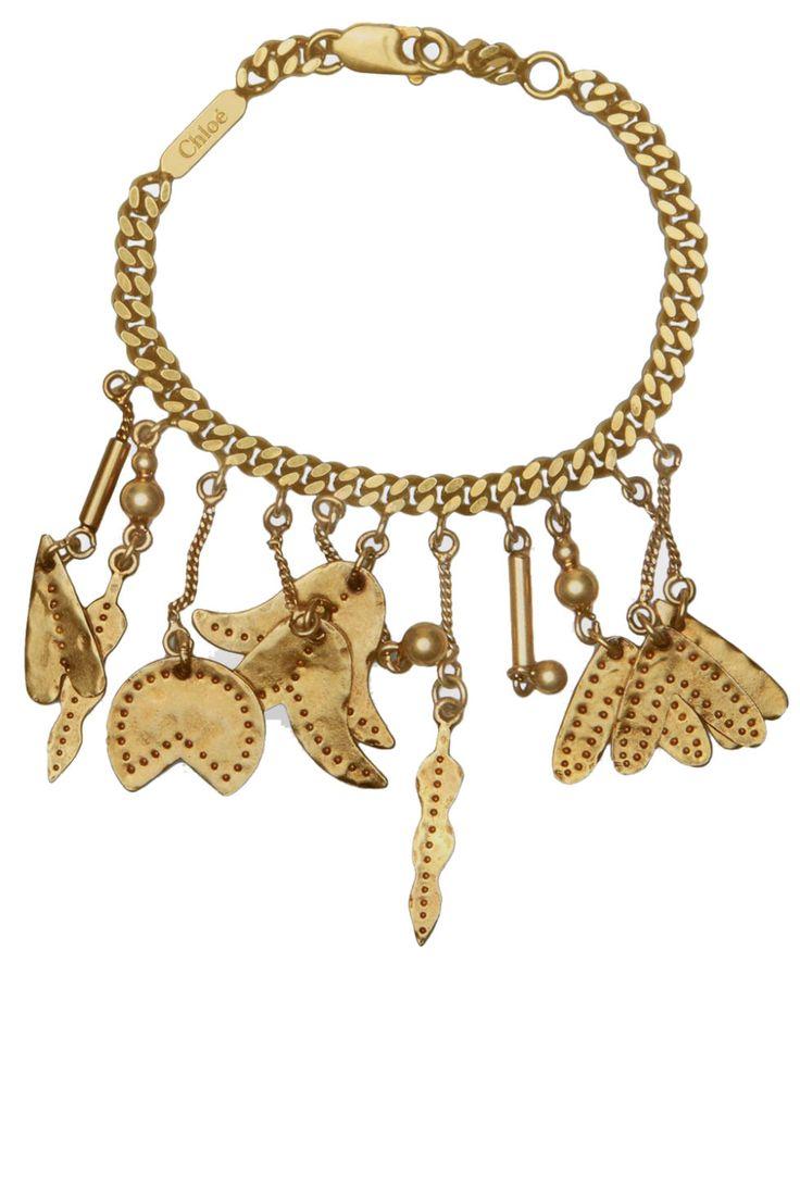 BRASS TACKS Chloé bracelet, $565, chloe.com. CHLOÉ