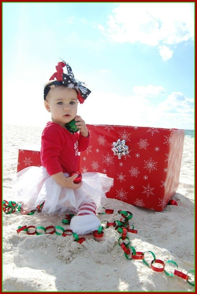Florida Beach baby Christmas card, to make it perfect would have Em ...