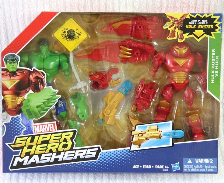 MARVEL MASHERS HULK VS HULK BUSTER ARMOR SUIT AGE OF ULTRON -BIG PACK