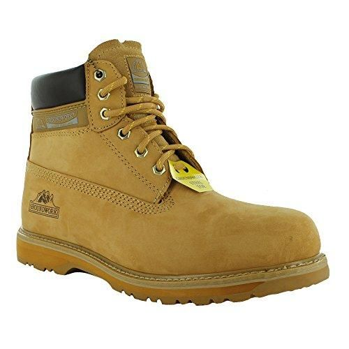 Oferta: 34.11€. Comprar Ofertas de Para hombre groundwork SK21–Steel Toe Cap Lace Up seguridad trabajo arranque, color beige, talla 47 EU (13 UK) barato. ¡Mira las ofertas!