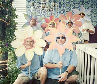 This is cute for a flower party.  They can also be used for a class picture!