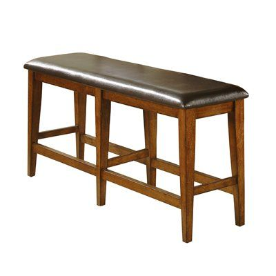 Winners Only DMGT45524 Mango Counter Height Bench This Counter Height Bench by Winners Only is offered with dark brown PVC upholstery. Comes in a mango