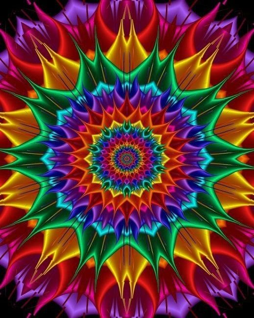 God invented color and math, and just look what He lets us do with it. Amazing colorful fractal!