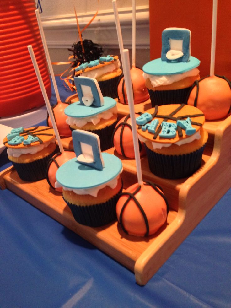 Basketball Baby Shower Cake Pops