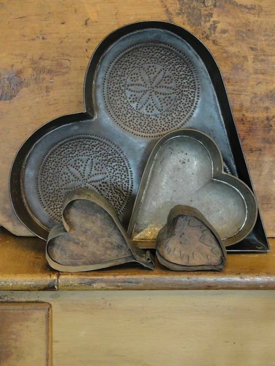 Heart- Cast iron cake pans