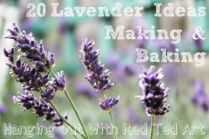 What to make with Lavender makes and bakes #lavender #DIY