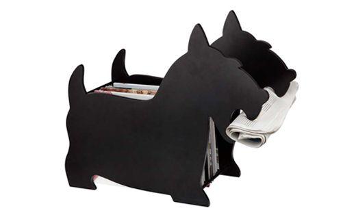 """#Revistero """"Perro"""" MDF pintado blanco o negro Dimensiones: 42,5x 57 x 20,5 cm."""
