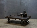 Handmade Vintage Oak Whiskey Barrel Coffee Table - eclectic - coffee tables - - by Wine Enthusiast Companies
