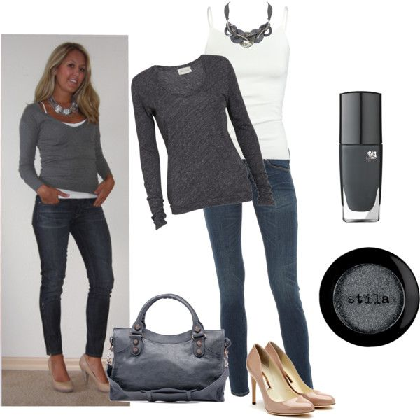 Simple greyPolyvore I, Simple, Beautiful, Winter Outfit, Fall Outfit, Work Outfit, Fashionista Fun, Missyfer88, Buy Clothing