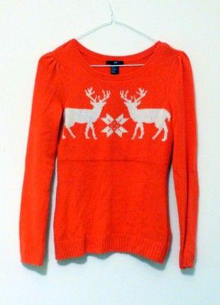 Kupuj mé předměty na #vinted http://www.vinted.cz/damske-obleceni/svetry/18236300-stylovy-svetr-se-soby-s-mirne-nabiranymi-rukavy-hm