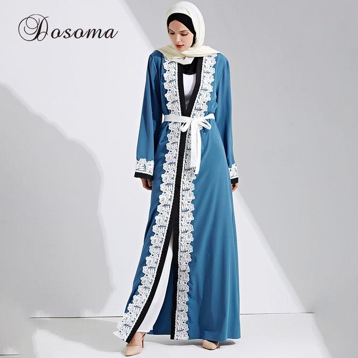 Muslim Women Maxi Dress Open Abaya Big Size Lace Jilbab Sashes Long Robe Gowns Cardigan Kimono Arab Dubai Thobe Islamic Clothing #Islamic clothing http://www.ku-ki-shop.com/shop/islamic-clothing/muslim-women-maxi-dress-open-abaya-big-size-lace-jilbab-sashes-long-robe-gowns-cardigan-kimono-arab-dubai-thobe-islamic-clothing/