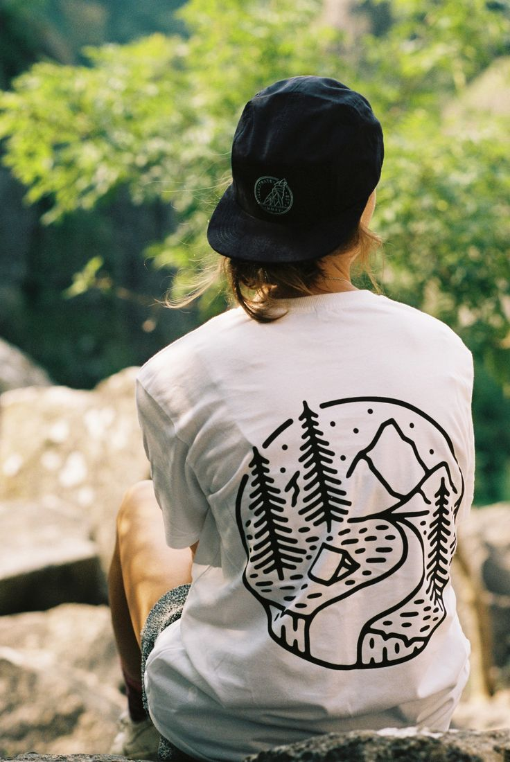 Into The Wilderness Organic Cotton Tee - Illustrate