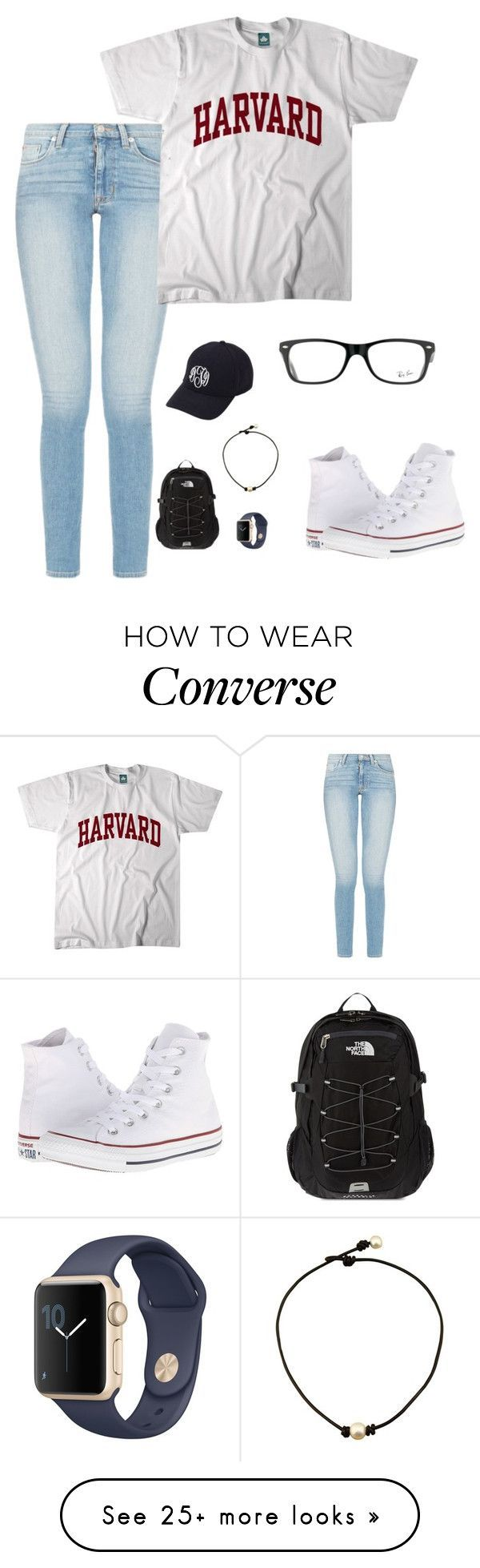 QOTD: favorite color? by amararangwala on Polyvore featuring Converse, Ray-Ban, Aggie Gray and The North Face