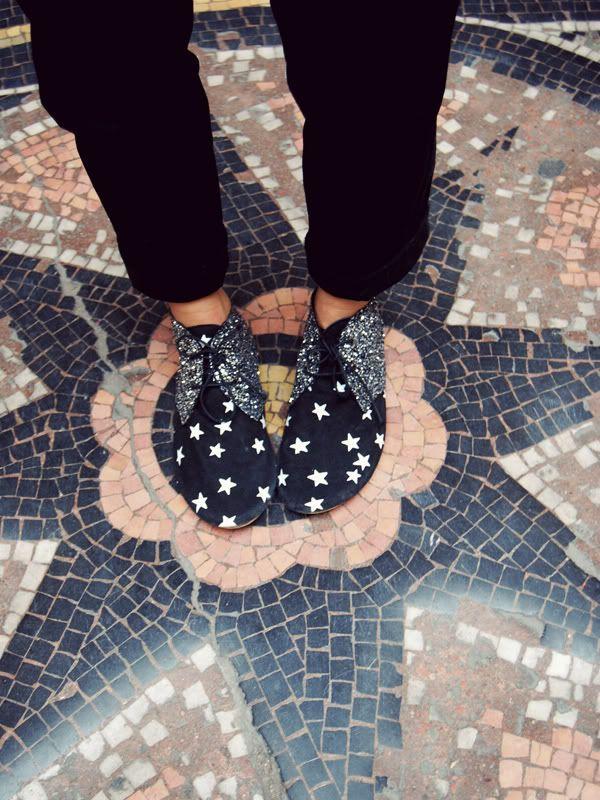 Anniel Soft Shoes Bicolor Glitter Stars www.annielmoda.com